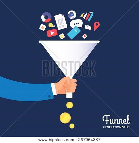 Sale Funnel. Lead Management Optimisation And Generation. Leading Technology And Media Marketing. Sa
