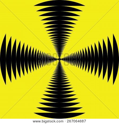 Abstract Black On Yellow Sound Perspective Yellow And Black Seamless Background
