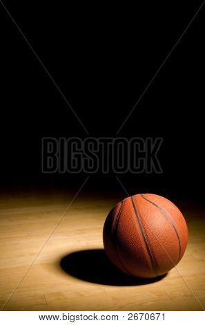 Basketball On The Hardwood With Black Copy Space Above (Xxl)