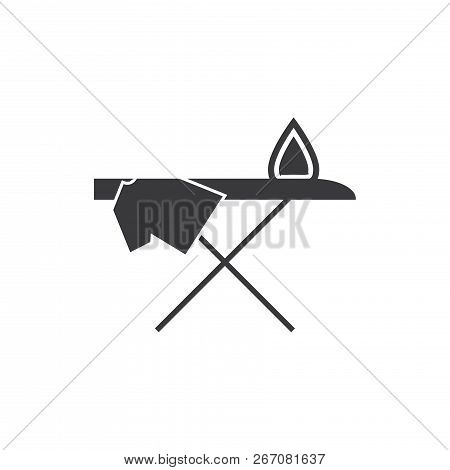 Ironing Board Vector Icon On White Background. Ironing Board Icon In Modern Design Style. Ironing Bo