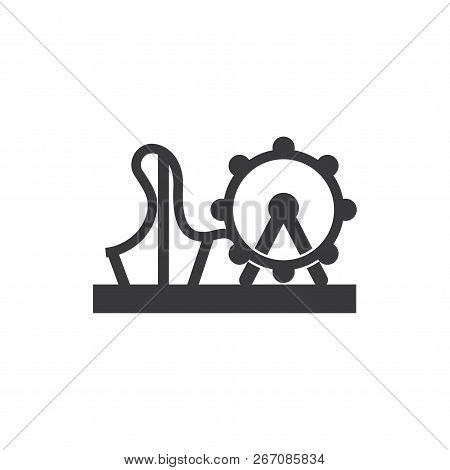 Amusement Park Vector Icon On White Background. Amusement Park Icon In Modern Design Style. Amusemen