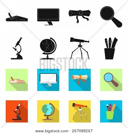 Vector Design Of Education And Learning Icon. Set Of Education And School Stock Symbol For Web.