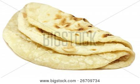 Hand made roti bread