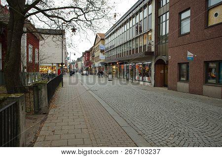 The City Of Falun In Dalarna In Sweden,05.11.2018