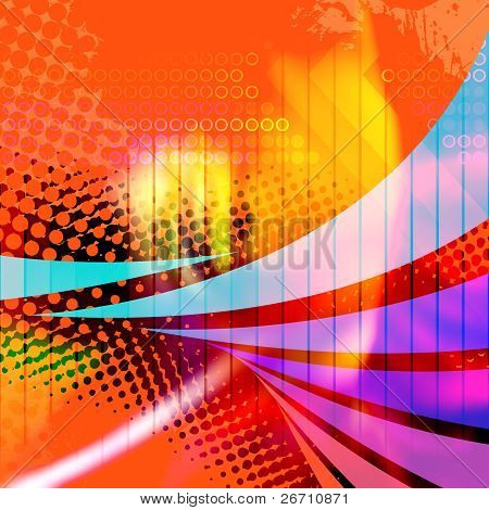 Swooshy Lines Abstract Layout