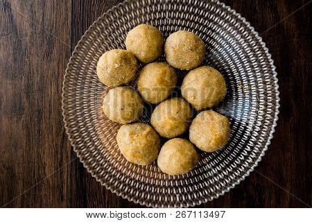 Icli Kofte / Boiled Kibbeh / Quibe With Butter Sauce. Homemade Food.