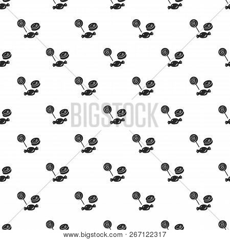 Halloween Candy Pattern Seamless Repeat Background For Any Web Design