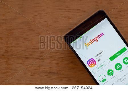 Bekasi, West Java, Indonesia. November 6, 2018 : Instagram Dev App On Smartphone Screen. Instagram I