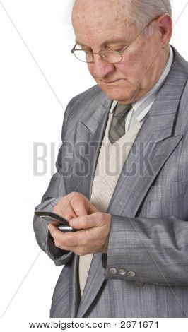 Senior Man Using A Mobile Phone