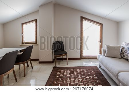 Attic Room, Simply Decorated For Multi Purpose Use