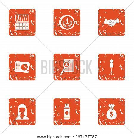 Exchange Rate Icons Set. Grunge Set Of 9 Exchange Rate Vector Icons For Web Isolated On White Backgr