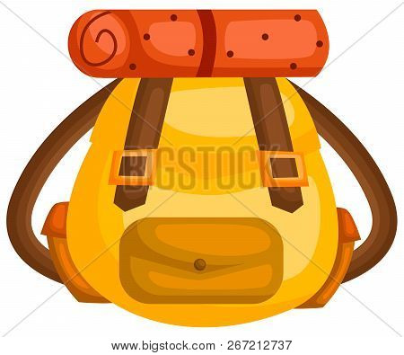 A Vector Of A Bag That Is Made For Camping