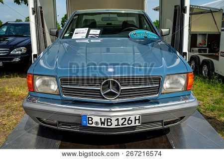 Paaren Im Glien, Germany - May 19, 2018: Full-size Luxury Car Mercedes-benz 380 Sec Coupe (w126), 19