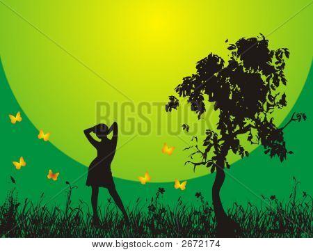 Girl And Sun