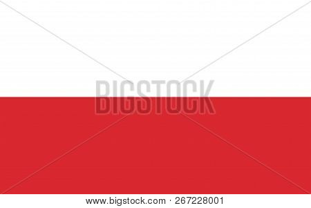 Vector Image For Poland Flag. Based On The Official And Exact Poland Flag Dimensions (8:5) & Colors