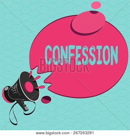 Conceptual Hand Writing Showing Confession. Business Photo Showcasing Statement Admitting One Is Gui