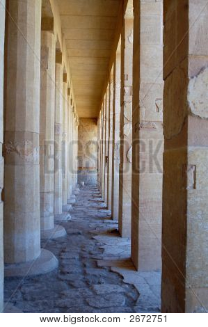 Colonnade In Temple