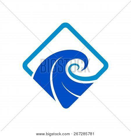 Water Waves Logo Design Vector Template, Water Waves Icon, Water Waves Logo, Ocean Water Waves Eps10