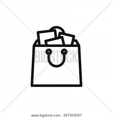 Shopping Bag Icon Isolated On White Background. Shopping Bag Icon In Trendy Design Style. Shopping B