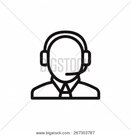 Operator Icon Isolated On White Background. Operator Icon In Trendy Design Style. Operator Vector Ic