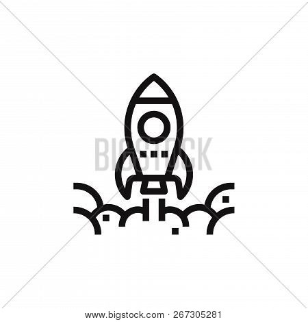 Startup Icon Isolated On White Background. Startup Icon In Trendy Design Style. Startup Vector Icon