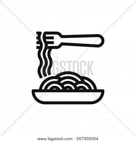 Spaghetti Icon Isolated On White Background. Spaghetti Icon In Trendy Design Style. Spaghetti Vector