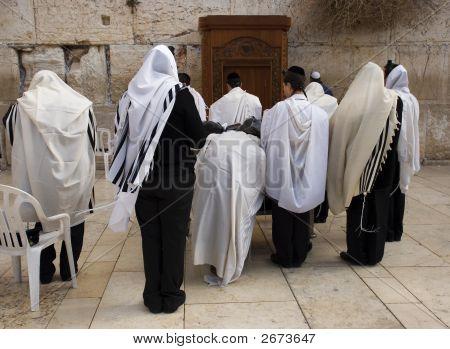 Praying At Western Wall