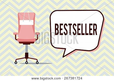 Text Sign Showing Bestseller. Conceptual Photo Book Product Sold In Large Numbers Successful Literat