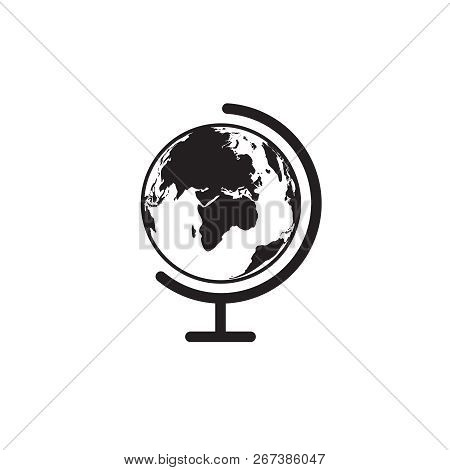 Vector Earth Globe Icon. Vector World Globe Icon. Table World Globe Icon.