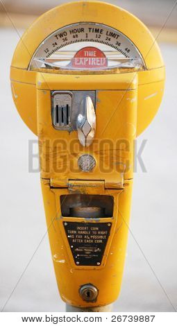Old Yellow Parking Meter