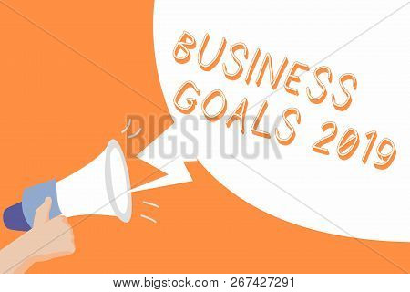 Handwriting Text Business Goals 2019. Concept Meaning Advanced Capabilities Timely Expectations Goal