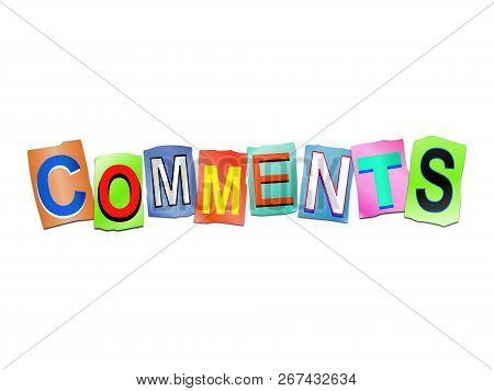 Comments Word Concept.
