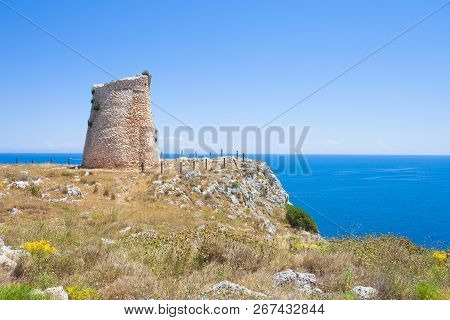 Minervino, Apulia, Italy - Hiking To The Old Defense Tower Of Minervino