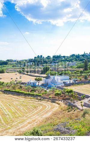 Locorotondo, Apulia, Italy - A Trulli Farmhouse Within The Calming Landscape