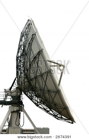 Cutout Satelite Dish On White Background With Clippng Path