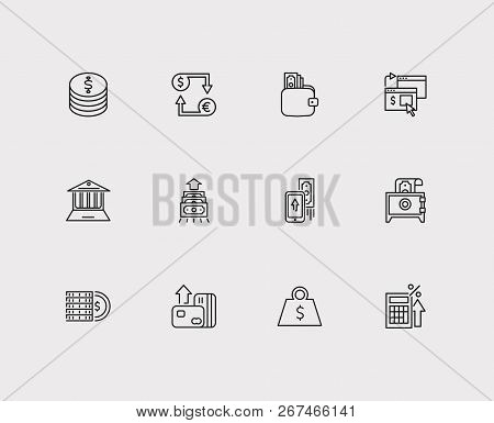Money Payment Icons Set. Online Payment And Money Payment Icons With Mobile Payment, Money Transfer