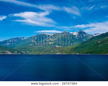 Majestic view at Kootenay lake in British Columbia, Canada.