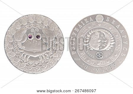 Cancer Belarus Silver Coin