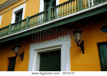 Old San Juan Spanish Architecture, San Juan, Pr, Usa