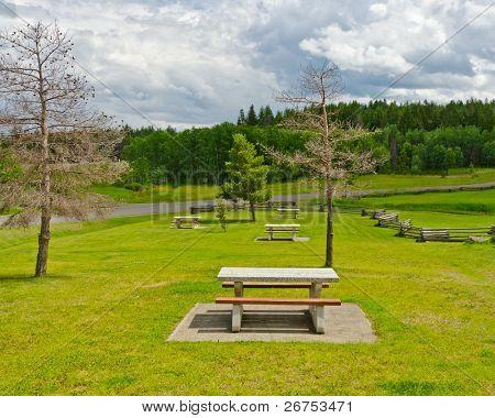 Beautiful picnic area in British Columbia, Canada.