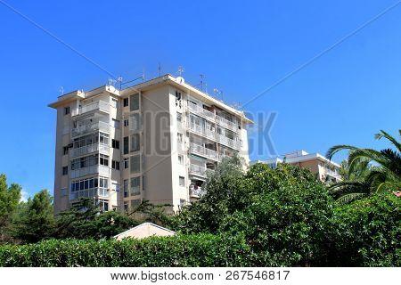 Apartment block on island of Majorca, Balearic Islands, Spain.