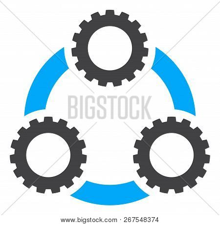 Gear Planetary Transmission Icon On A White Background. Isolated Gear Planetary Transmission Symbol