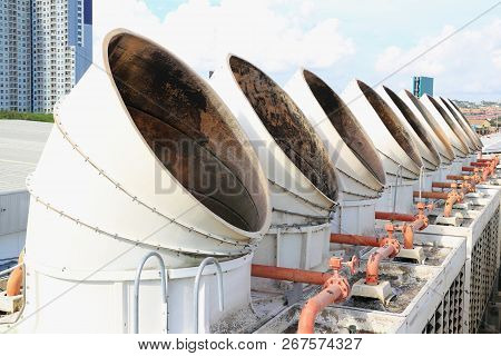 Old Cooling Tower On The Roof Deck