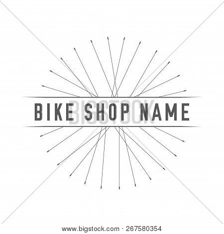 Bikes Shop Emblem. Design Element For Bike Shop Or Advertising Banner. Bicycles Spokes Silhouette An