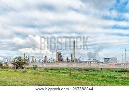 Cape Town, South Africa, August 20, 2018: A Fuel Refinery In Cape Town In The Western Cape Province