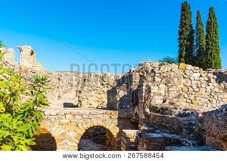Ruins in ancient old roman city Volubilis, Unesco, Meknes, Morocco, Africa poster
