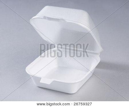 Styrofoam meal box.