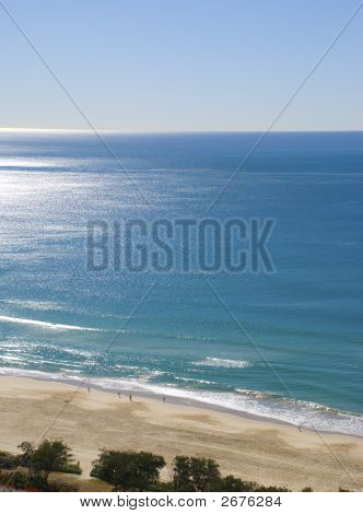 Bright Day Over Ocean Beach