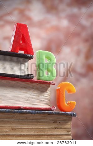 stock image of the abc on book poster
