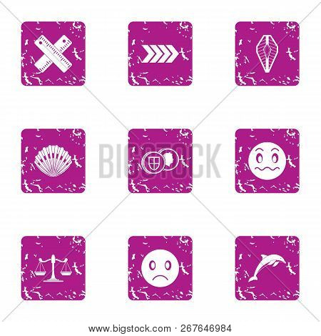 Bad Action Icons Set. Grunge Set Of 9 Bad Action Vector Icons For Web Isolated On White Background